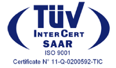 Logo cert TUV Intercert Saar - صفحه اصلی